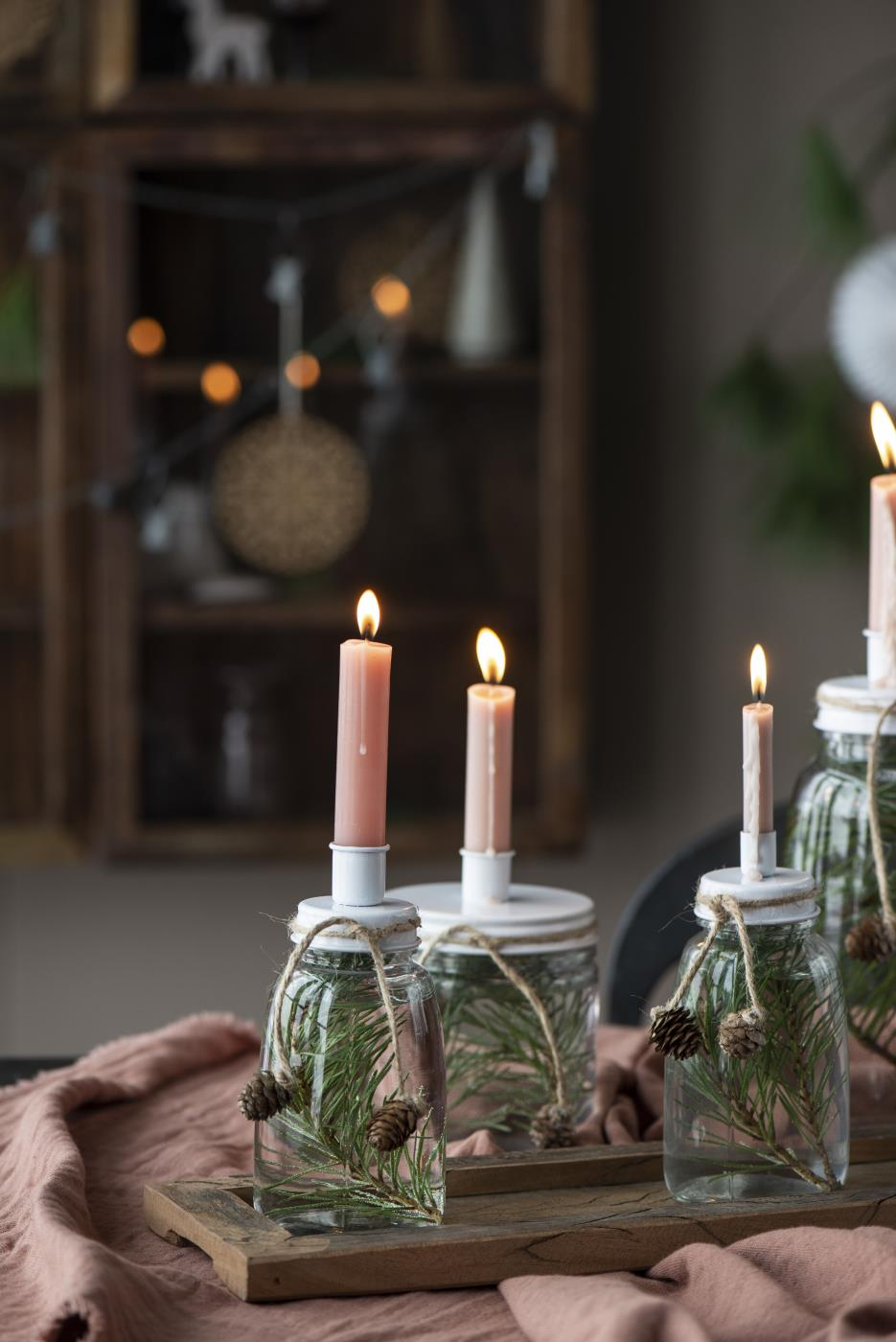 Kerzenhalter mit Schraubdeckel für Kerze Ø 1,3 cm
