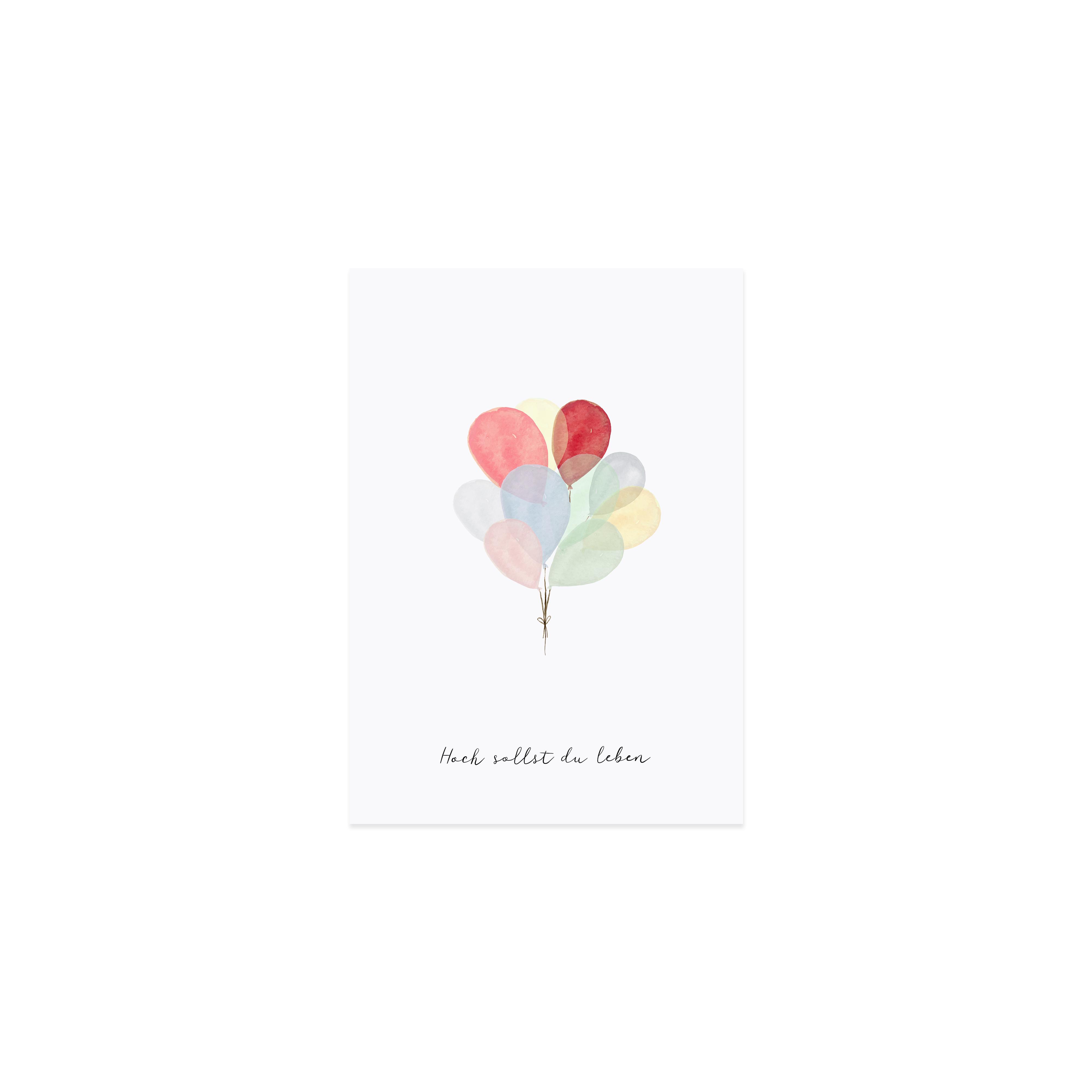 """Glückwunschkarte """"Luftballons"""""""