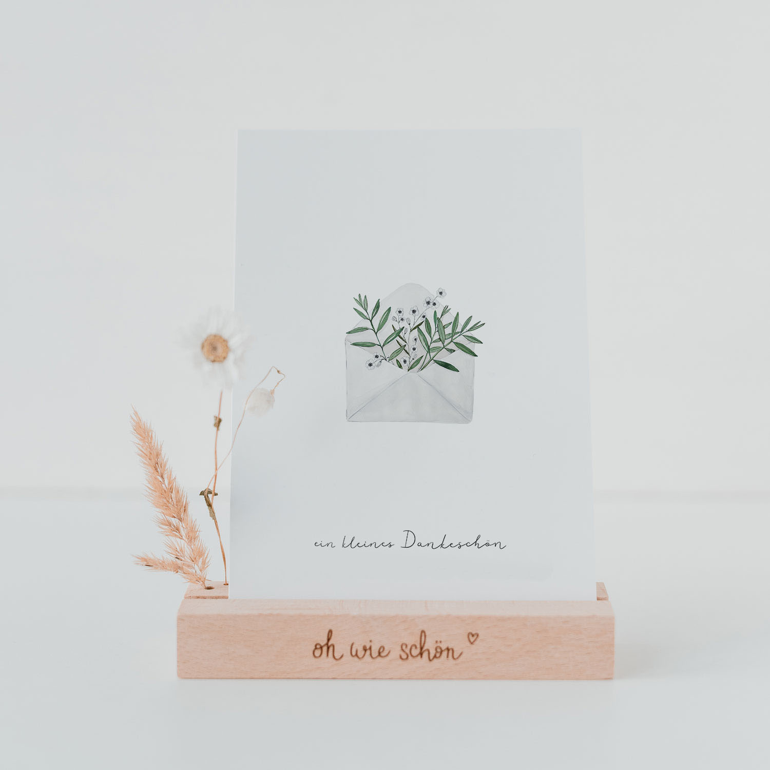 """Dankeskarte """"Blumenumschlag"""""""