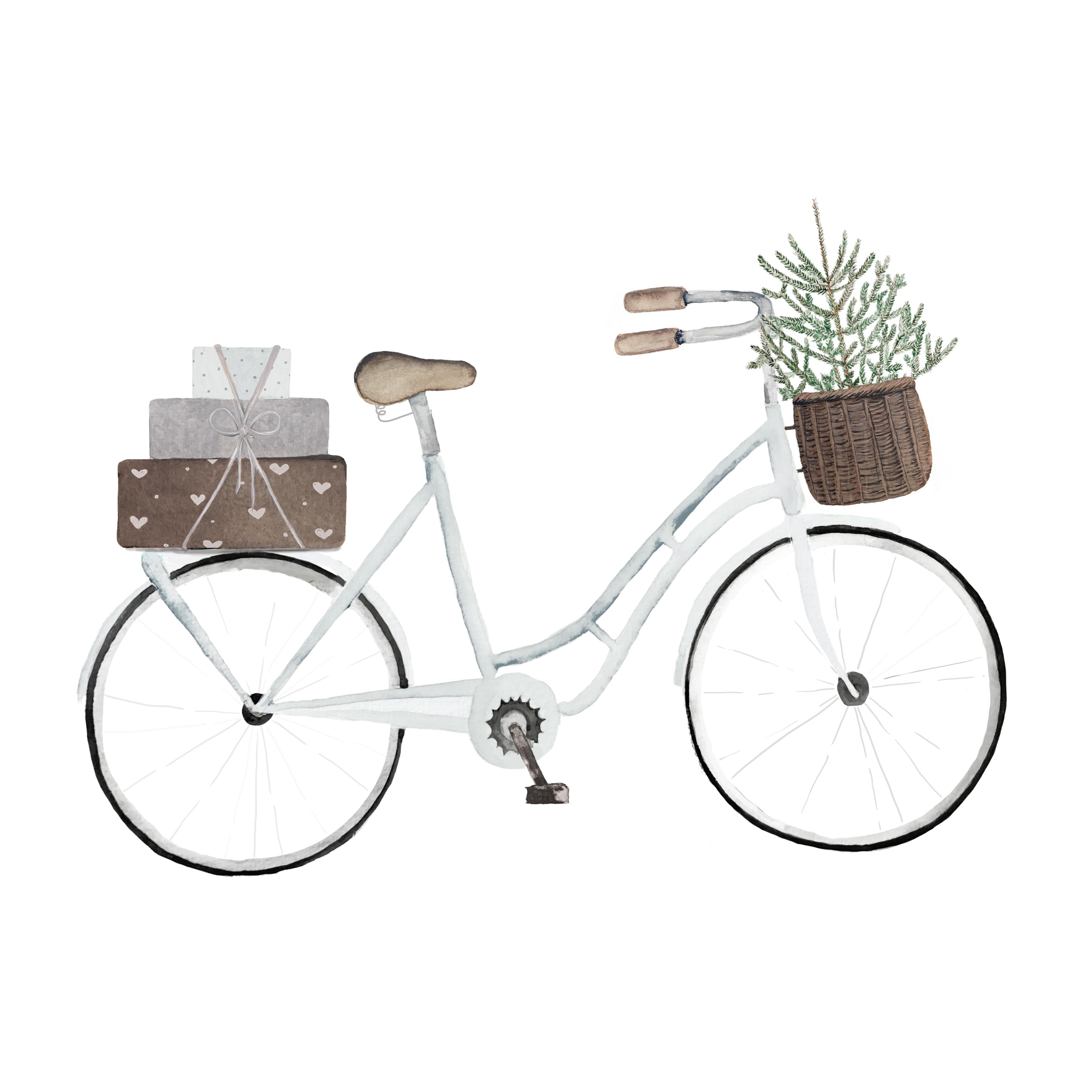 """Weihnachtskarte """"Geschenke Fahrrad"""""""