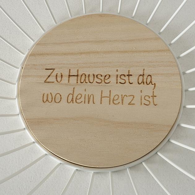 """Aufbewahrungskorb """"Holzboden - Zu Hause ist..."""""""