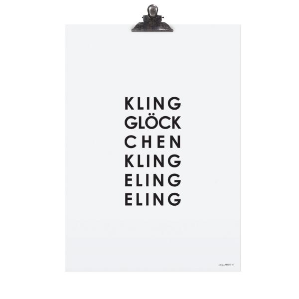 """Poster """"Kling Glöckchen"""""""
