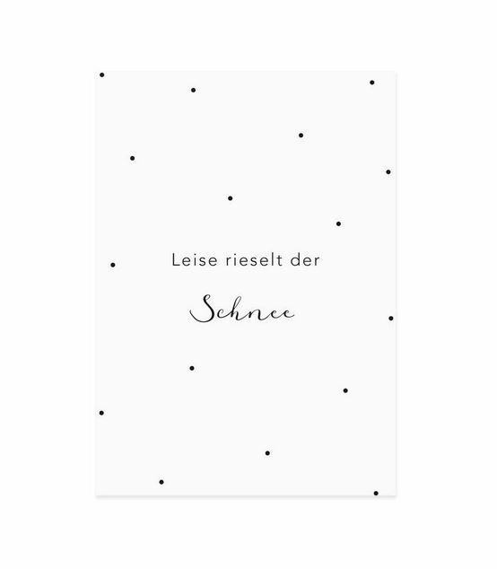 """Weihnachtskarte  """"Leise rieselt der Schnee"""""""