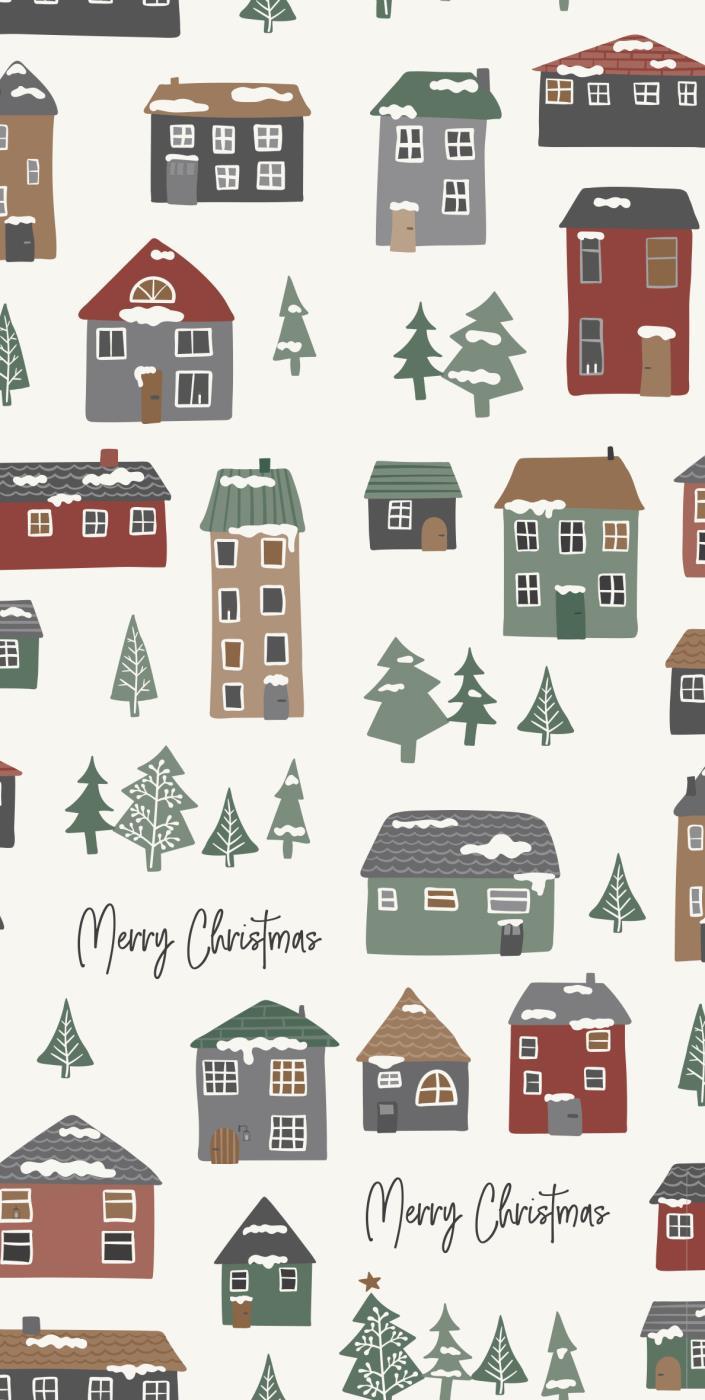 """Weihnachts-Serviette """"Häuser"""""""