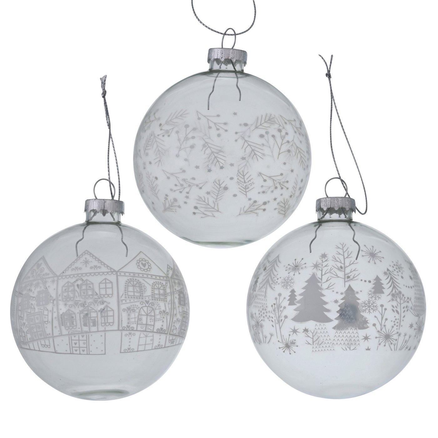 "Weihnachtskugeln ""Winter"" 3er-Set"