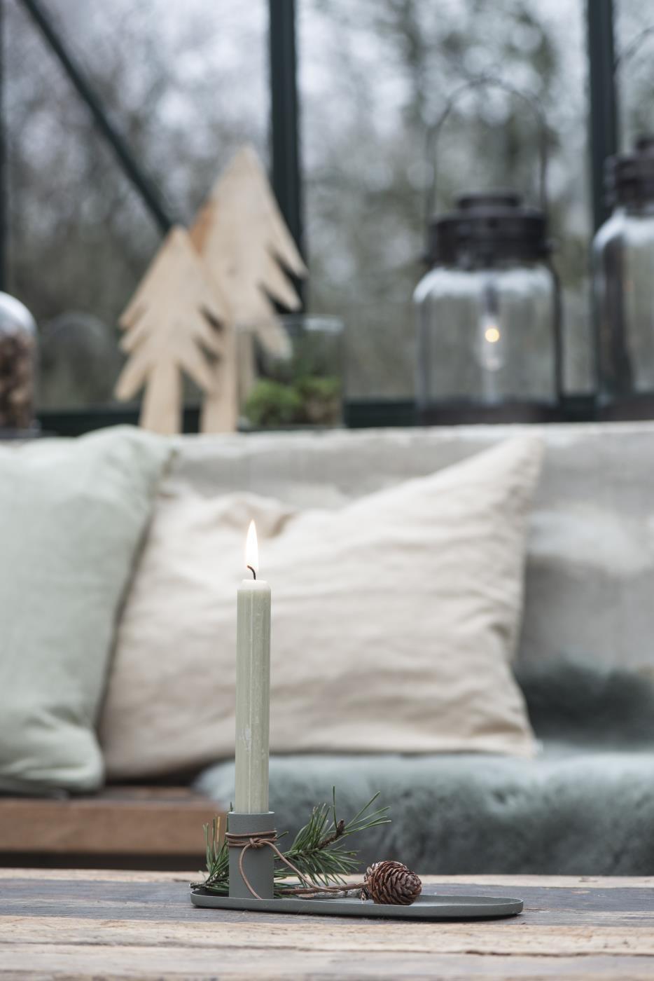 """Kerzenständer """"Oval für Stabkerze"""""""
