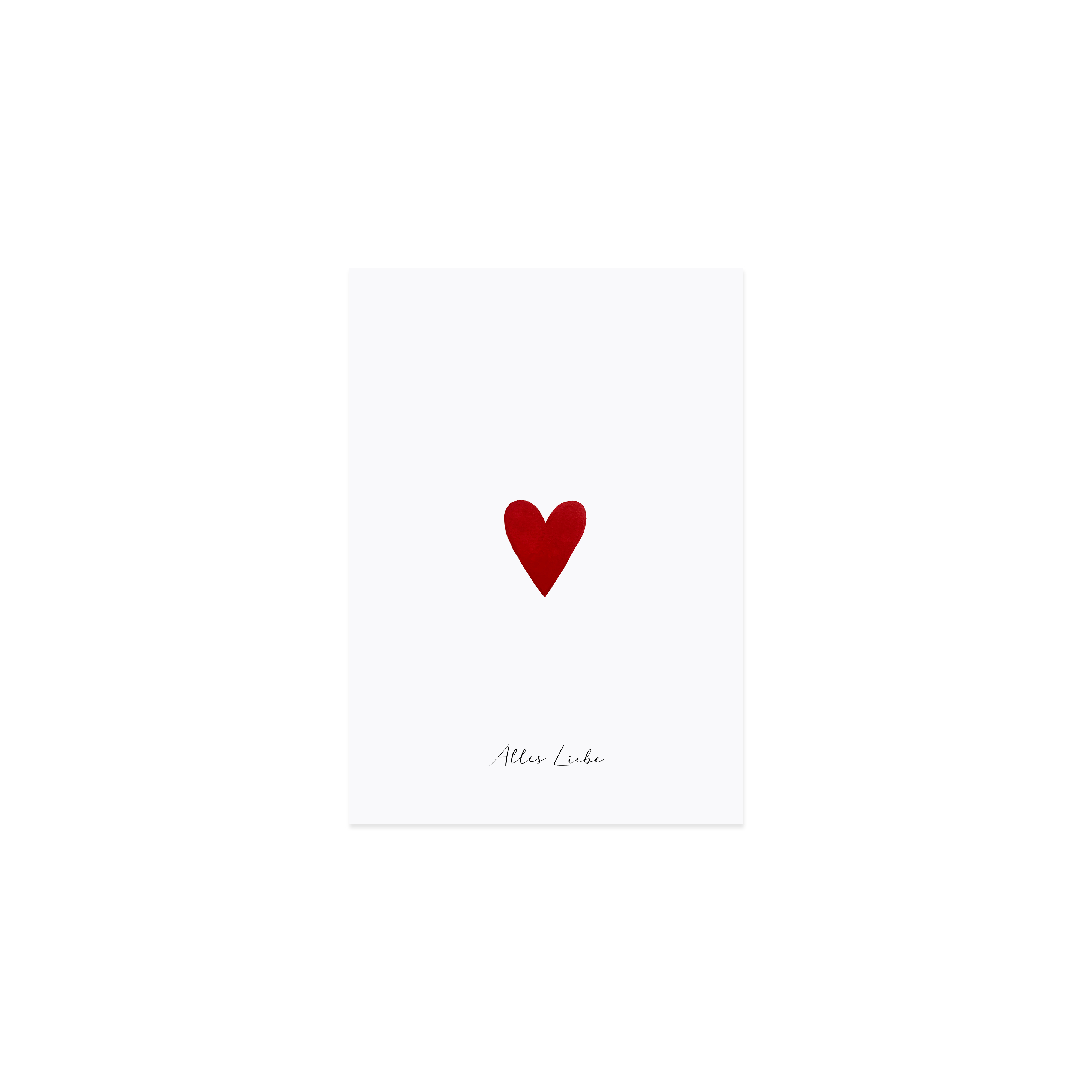 "Glückwunschkarte ""Herz"""