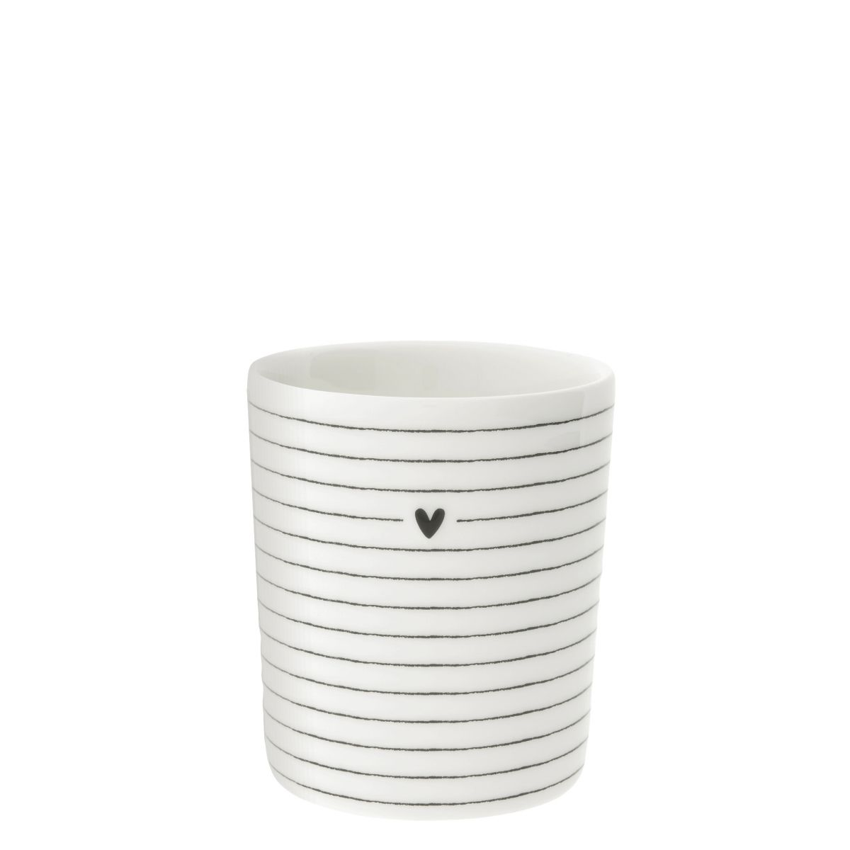 """Becher """"Stripes With Heart"""""""