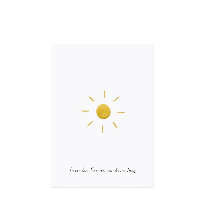 "Glückwunschkarte ""Sonne"""