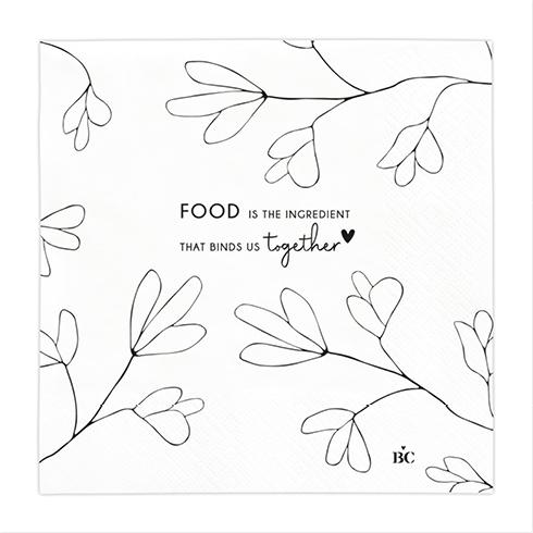 "Serviette ""Food is the ingredient"""