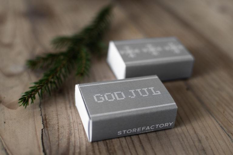 """Streichhölzer """"God Jul"""" gestickte Optik"""