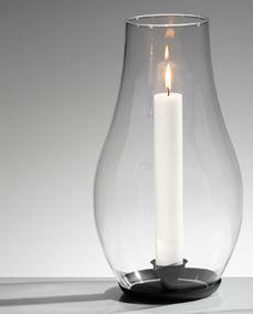 Kerzenwindlicht mit Glasaufsatz