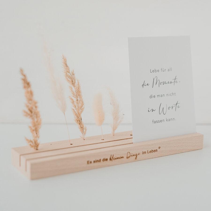 """Karten- und Blumenständer """"Lang natur"""""""
