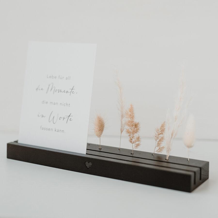 """Karten- und Blumenständer """"Lang schwarz"""""""