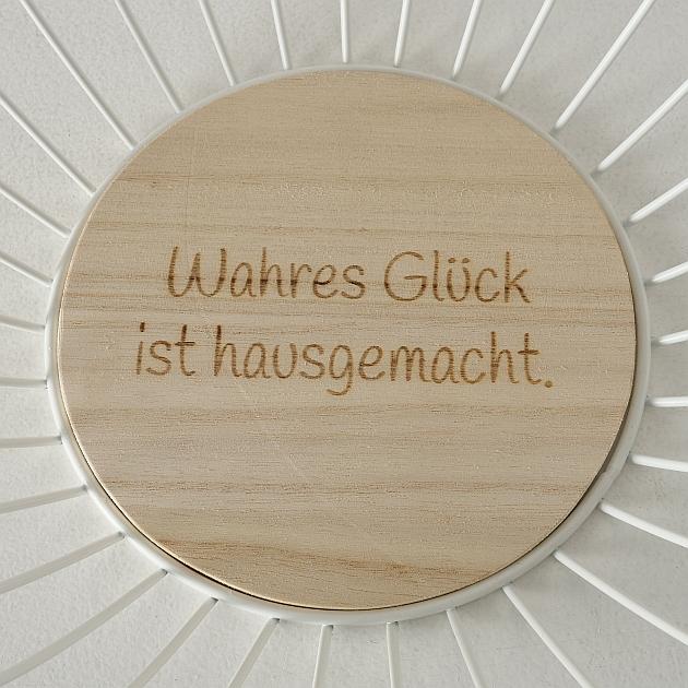 """Aufbewahrungskorb """"Holzboden - Wahres Glück..."""""""