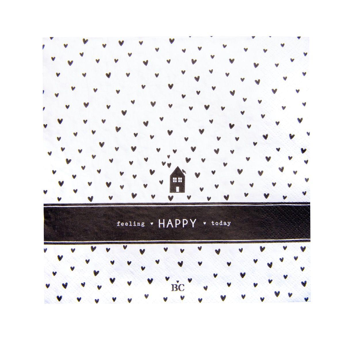 """Serviette """"Feeling Happy Today"""""""