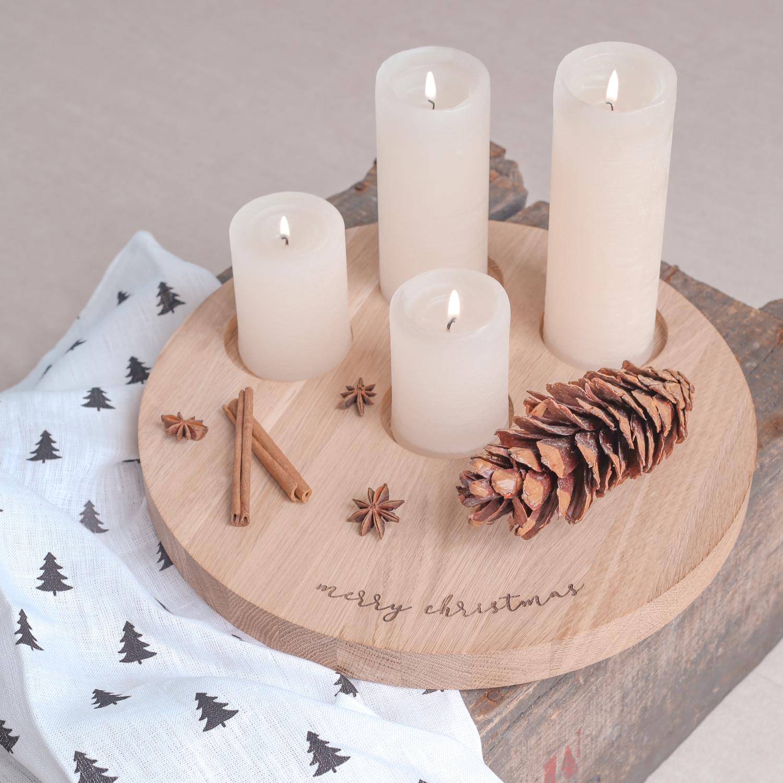 "Kerzenbrett ""Merry Christmas"""
