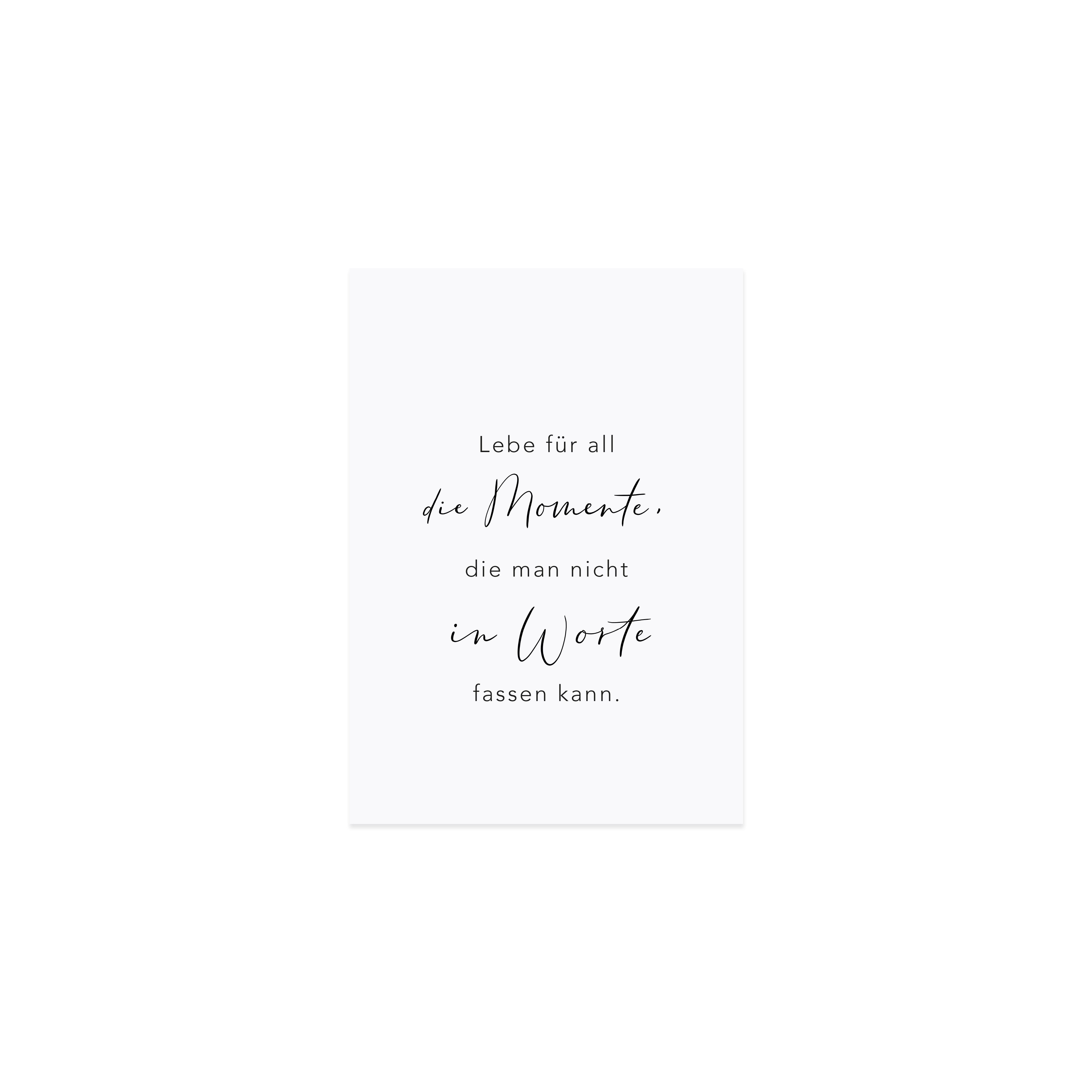 """Spruchkarte """"Momente"""""""