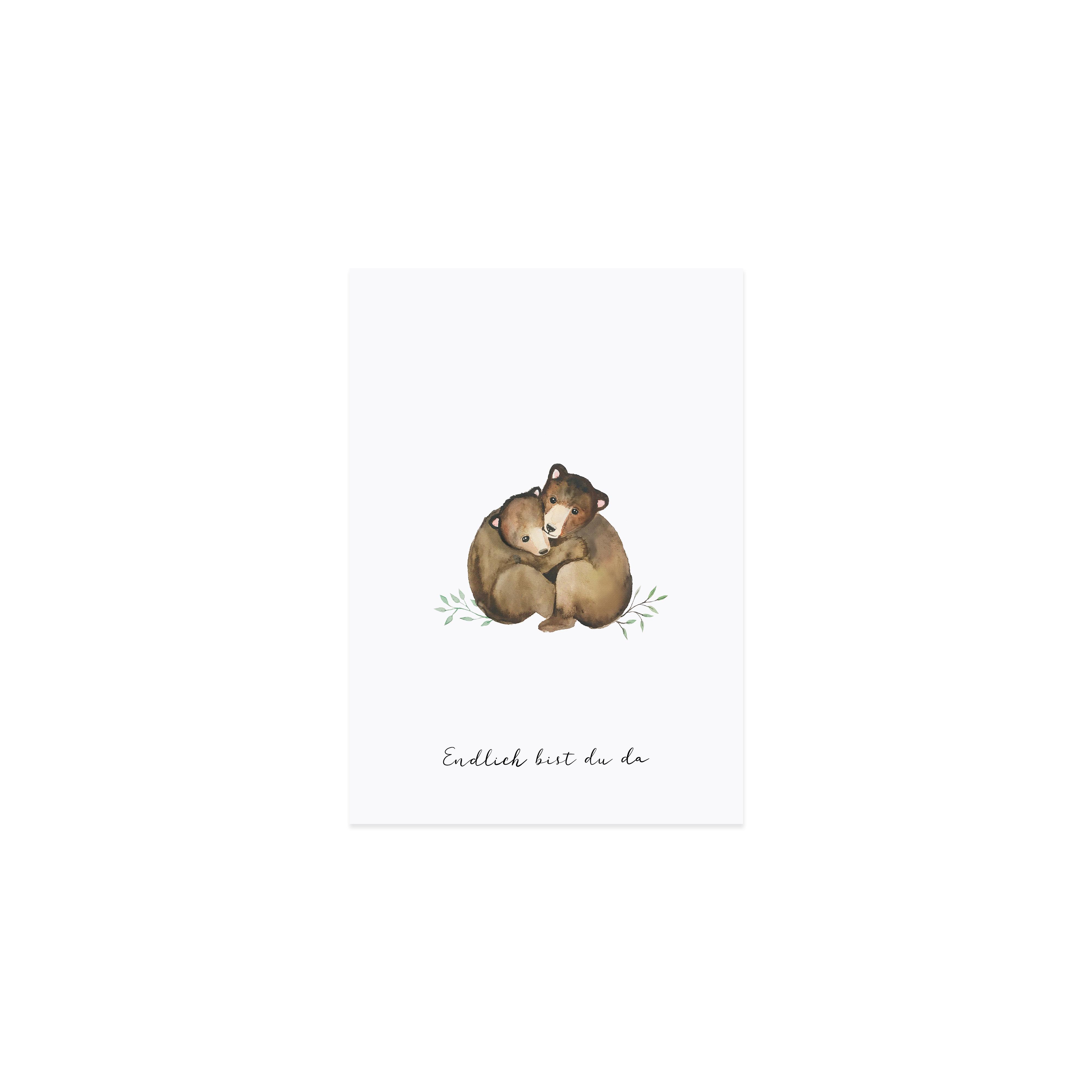 """Glückwunschkarte """"Kleine Bären"""""""