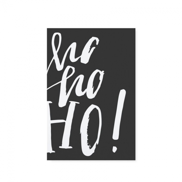 """Postkarte """"HO HO HO"""""""
