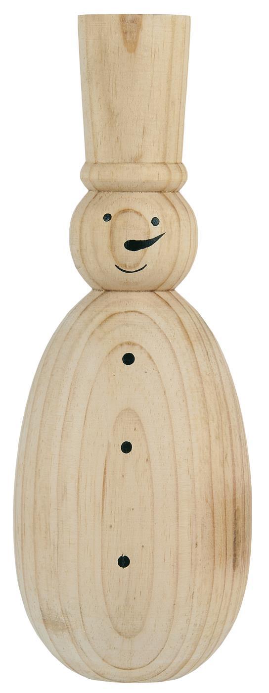 "Holz Schneemann ""Woody"""