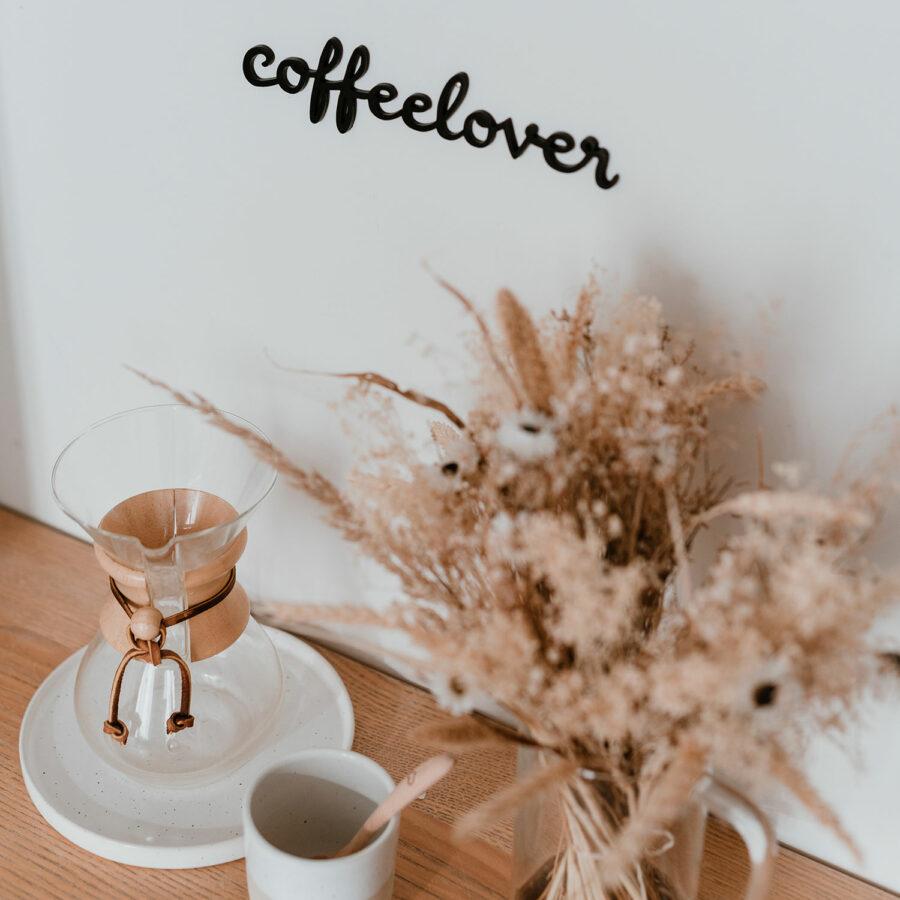 """Holzschriftzug """"Coffeelover"""""""
