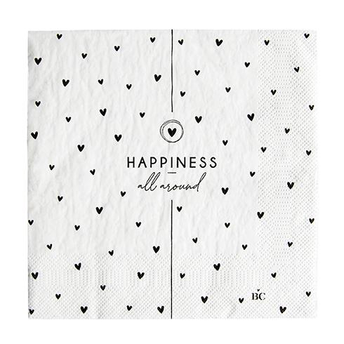 """Serviette """"Happiness all around"""""""