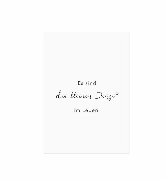 """Spruchkarte """"Kleine Dinge"""""""