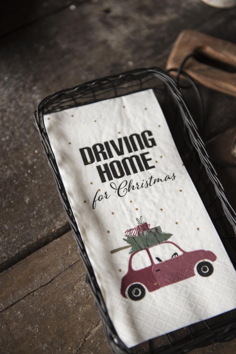 """Weihnachts-Serviette """"Driving home"""""""