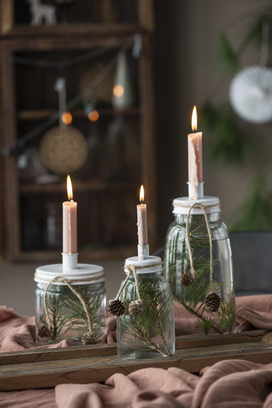 Kerzenhalter mit Schraubdeckel für Stabkerze Ø 2,1 cm