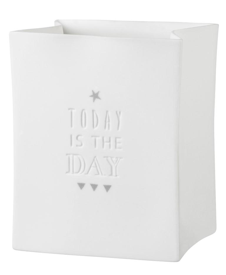 """Porzellanlichttüte """"Today is the day"""""""