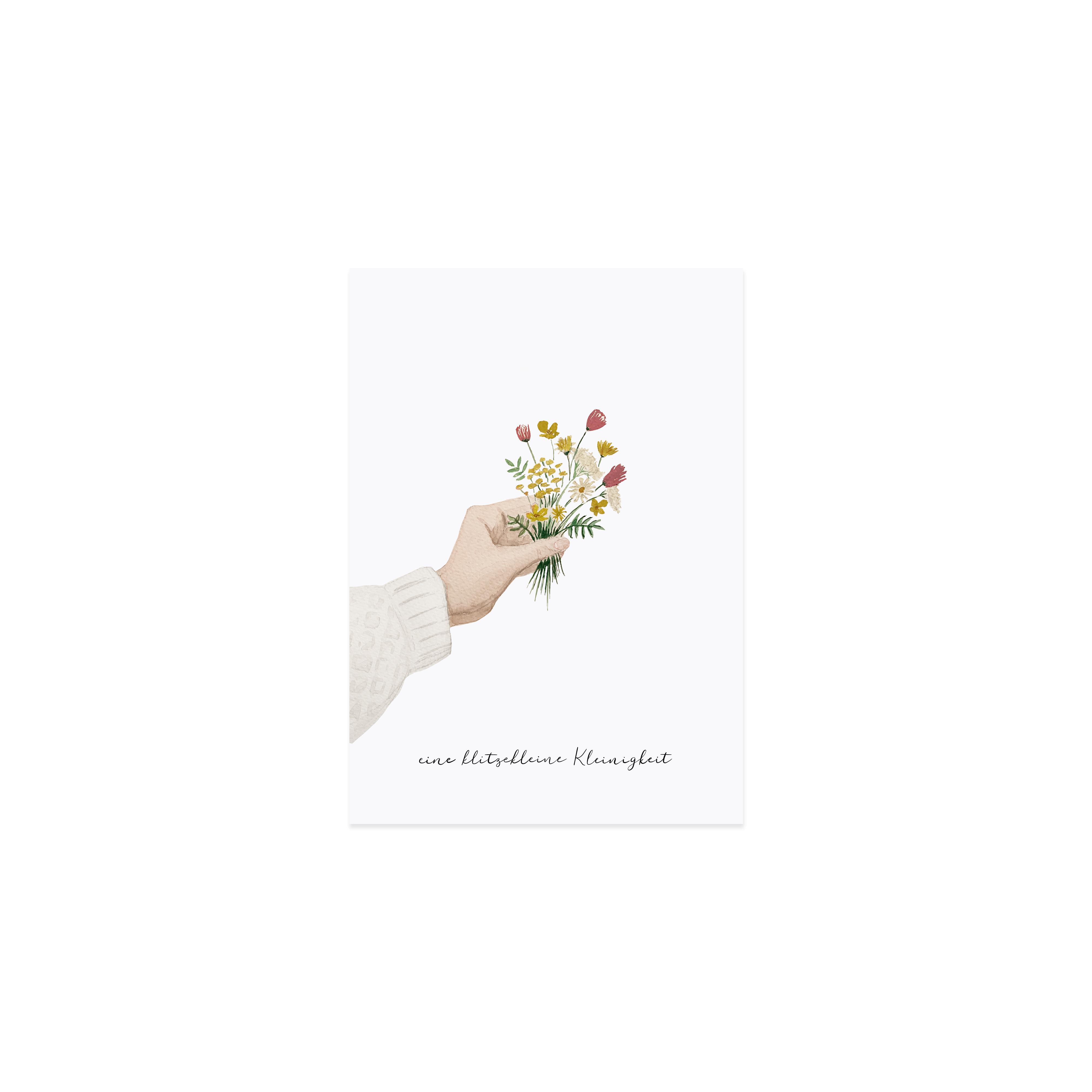 """Glückwunschkarte """"Blumenstrauß Kleinigkeit"""""""