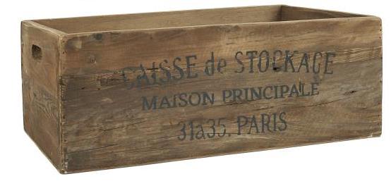 "Holzkiste ""Caisse De Stockage"""
