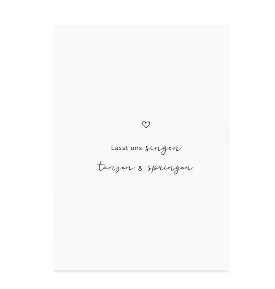 """Spruchkarte """"Tanzen & Springen"""""""