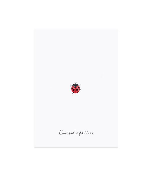 "Glückwunschkarte ""Marienkäfer"""