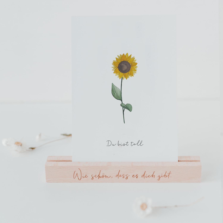 """Dankeskarte """"Sonnenblume"""""""